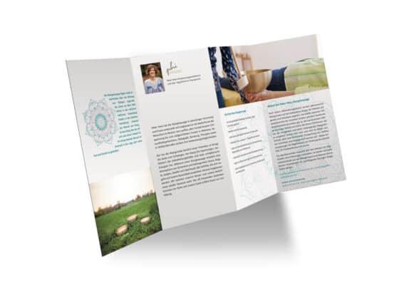hilledesign Portfolio Mandala green Flyer
