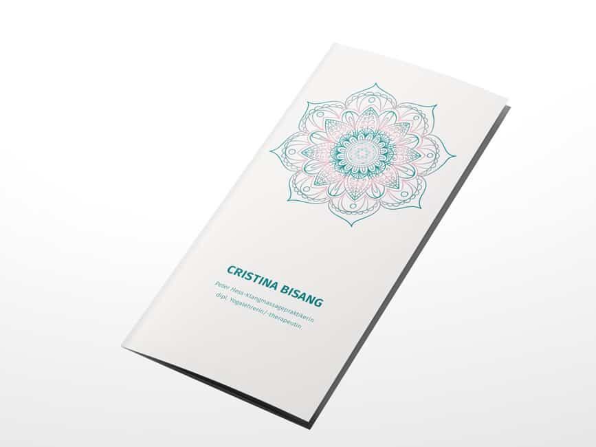 hilledesign Portfolio Mandala Flyer Cristina Bisang