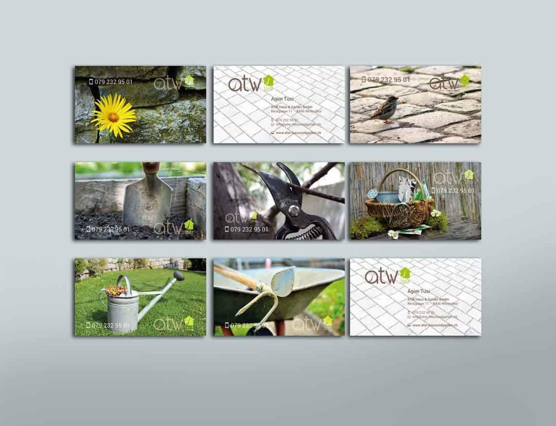 hilledesign Portfolio atw Haus und Garten Visitenkarte