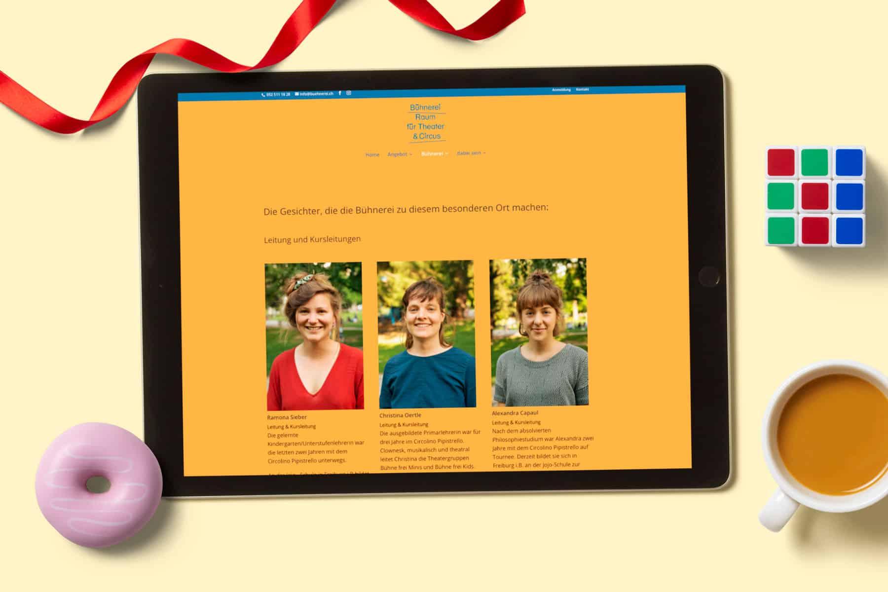 hilledesign Portfolio Bühnerei Homepage