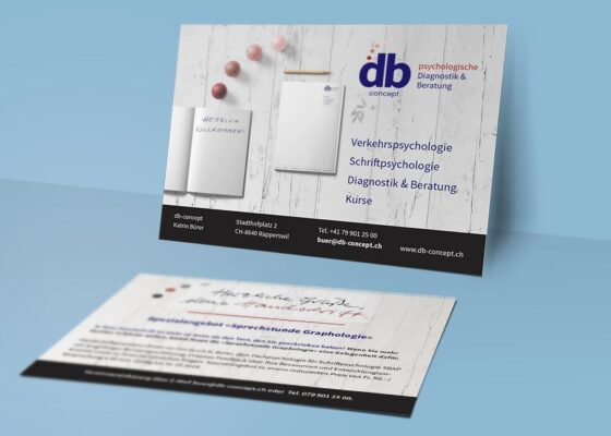 hilledesign Portfolio db-concept Postkarte