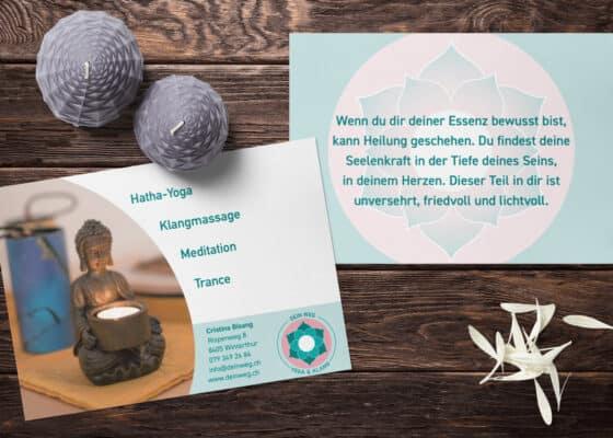 hilledesign Portfolio Dein Weg Postkarte