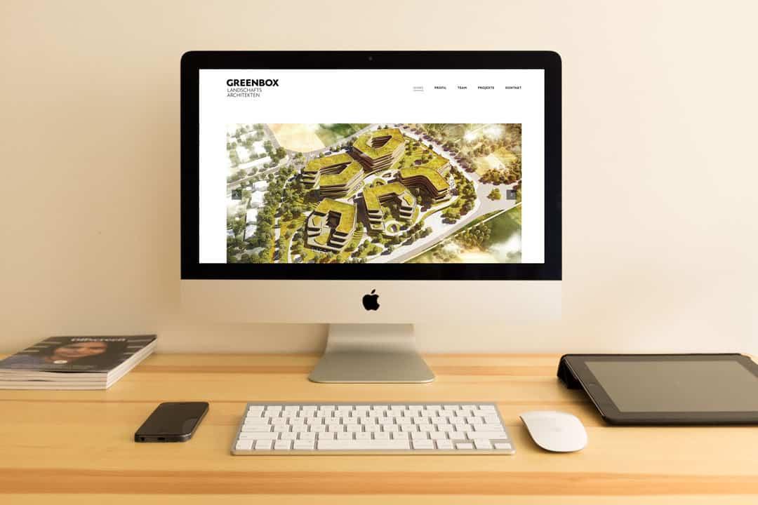 hilledesign Portfolio GREENBOX Webseite