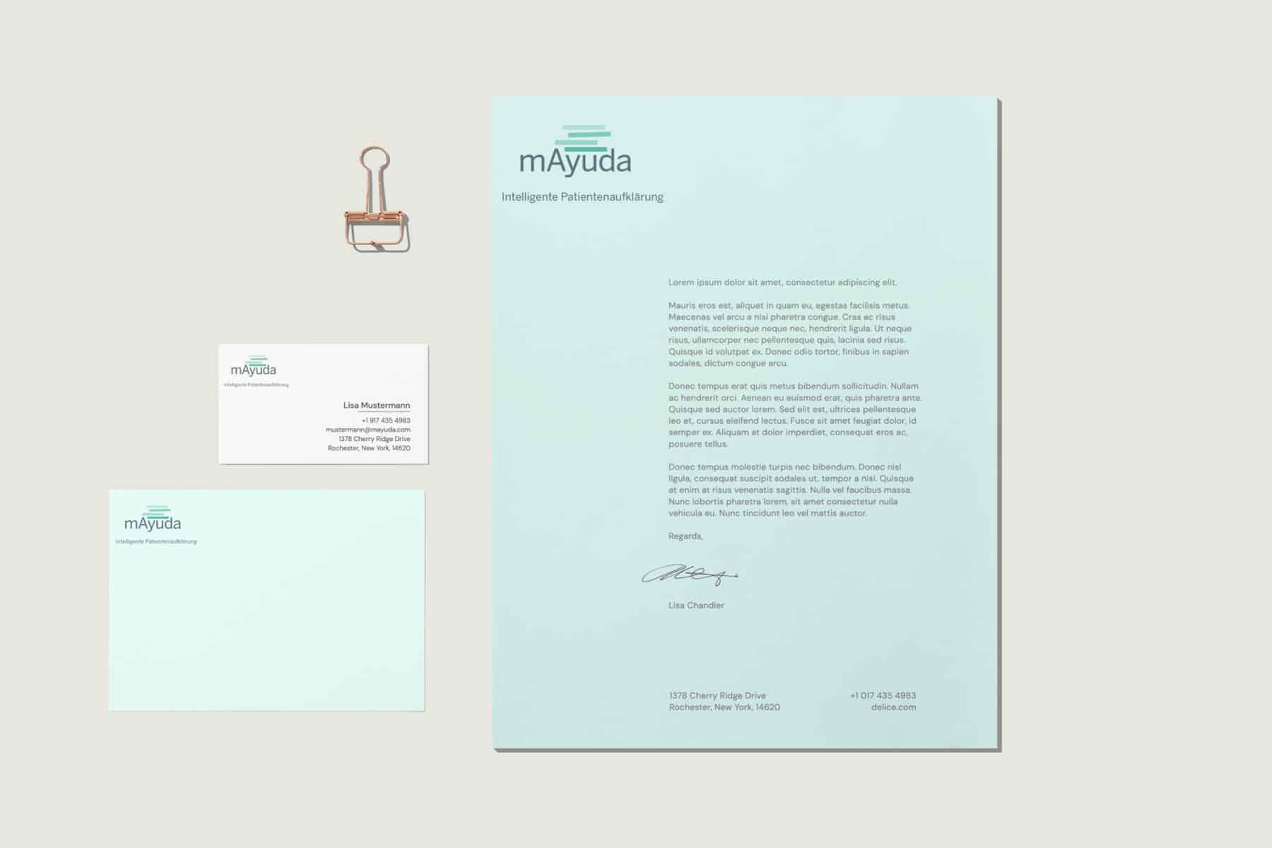 hilledesign Portfolio mAyuda Corporate Design und Logo Design