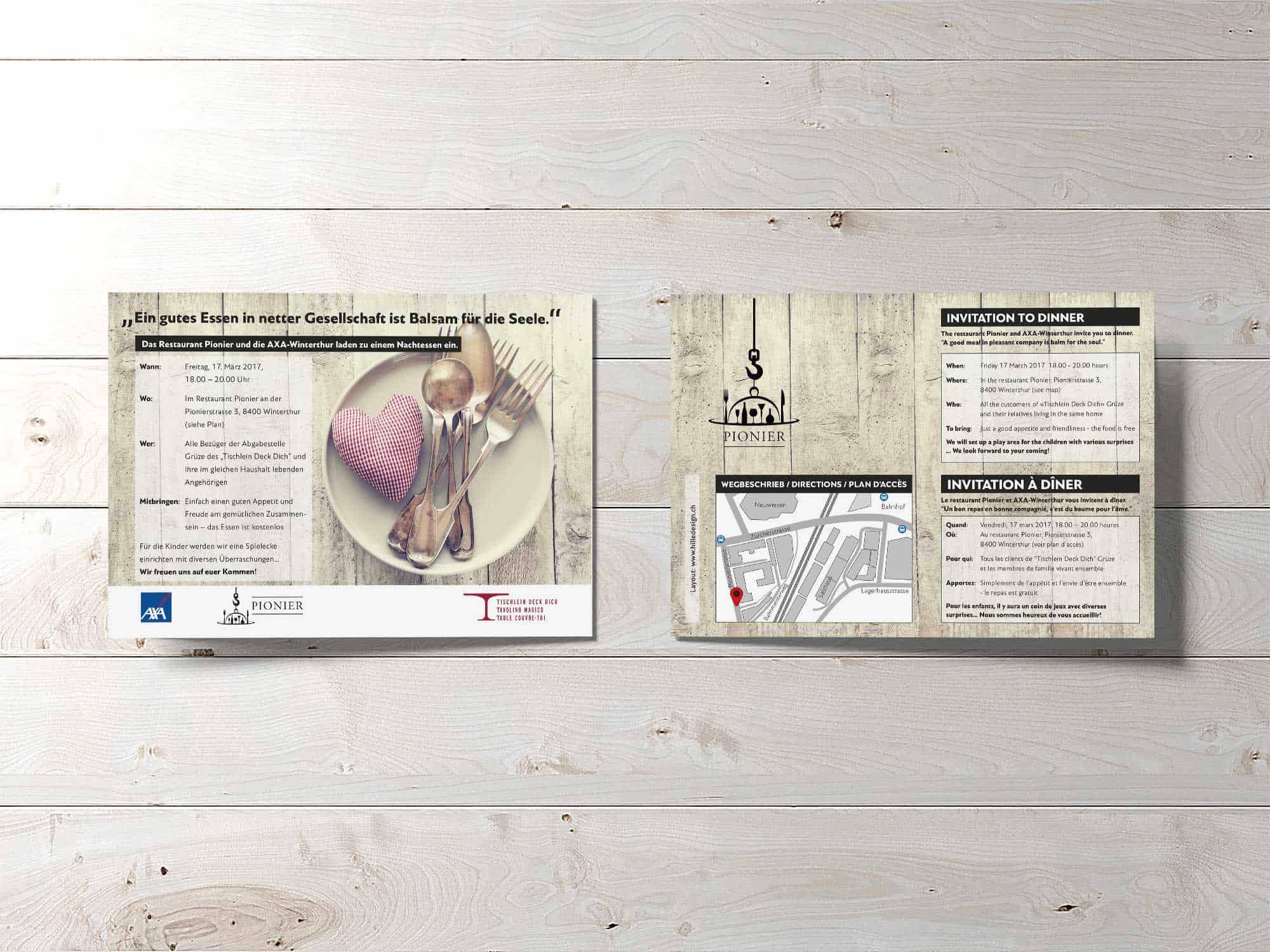 hilledesign Portfolio Einladung von Tischlein Deck Dich