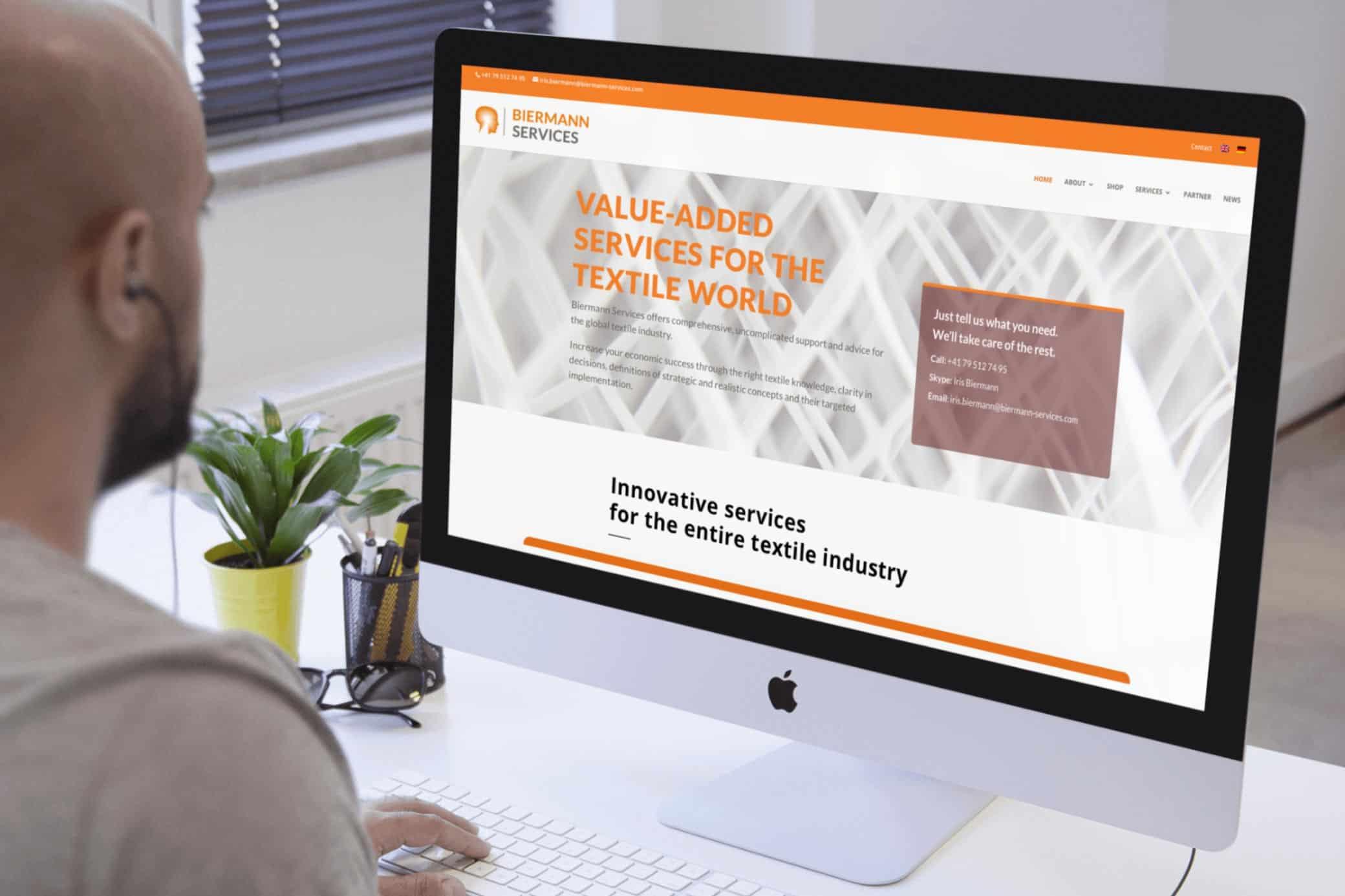 hilledesign Portfolio Biermann Services Homepage