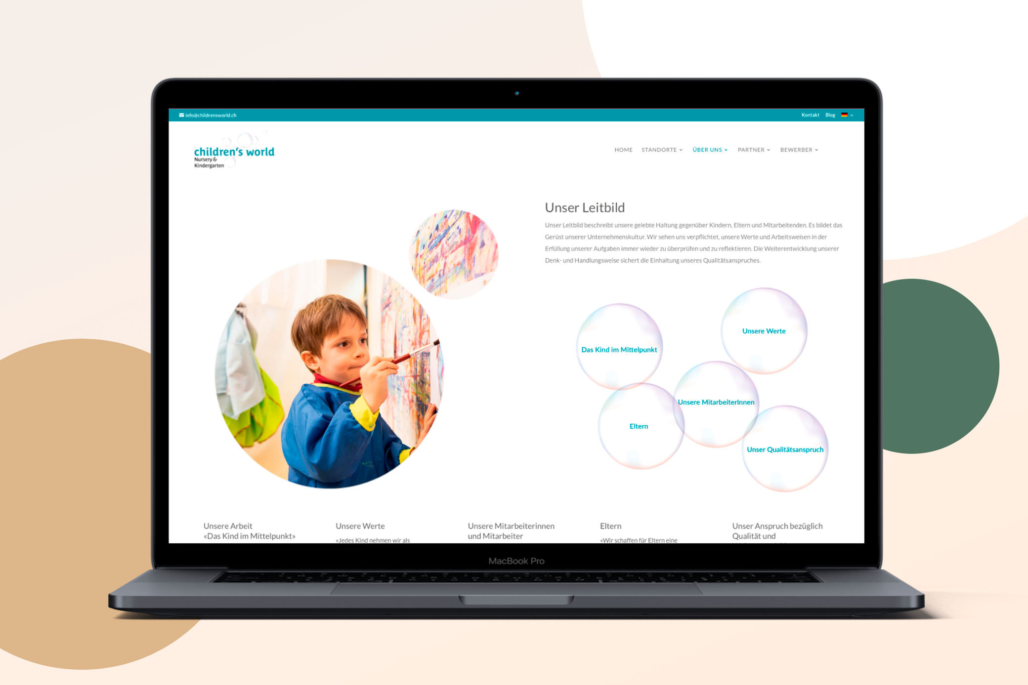hilledesign Portfolio children's world Webdesign
