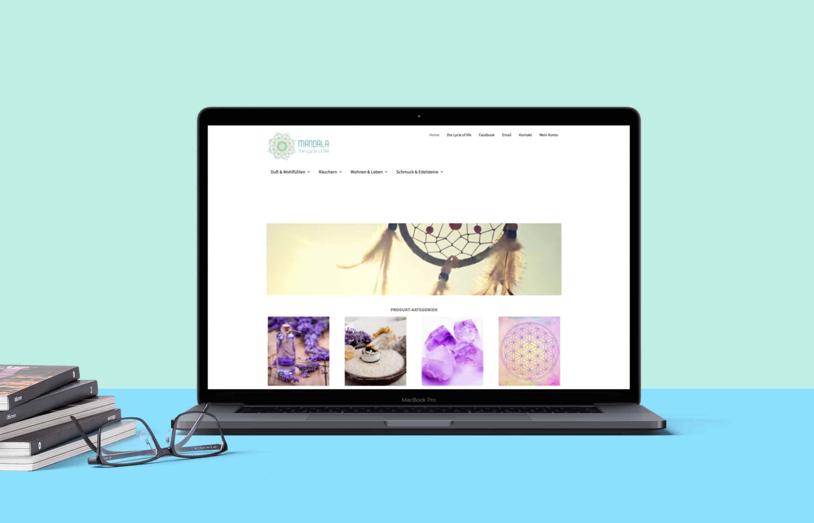 hilledesign Portfolio Mandala green Onlineshop