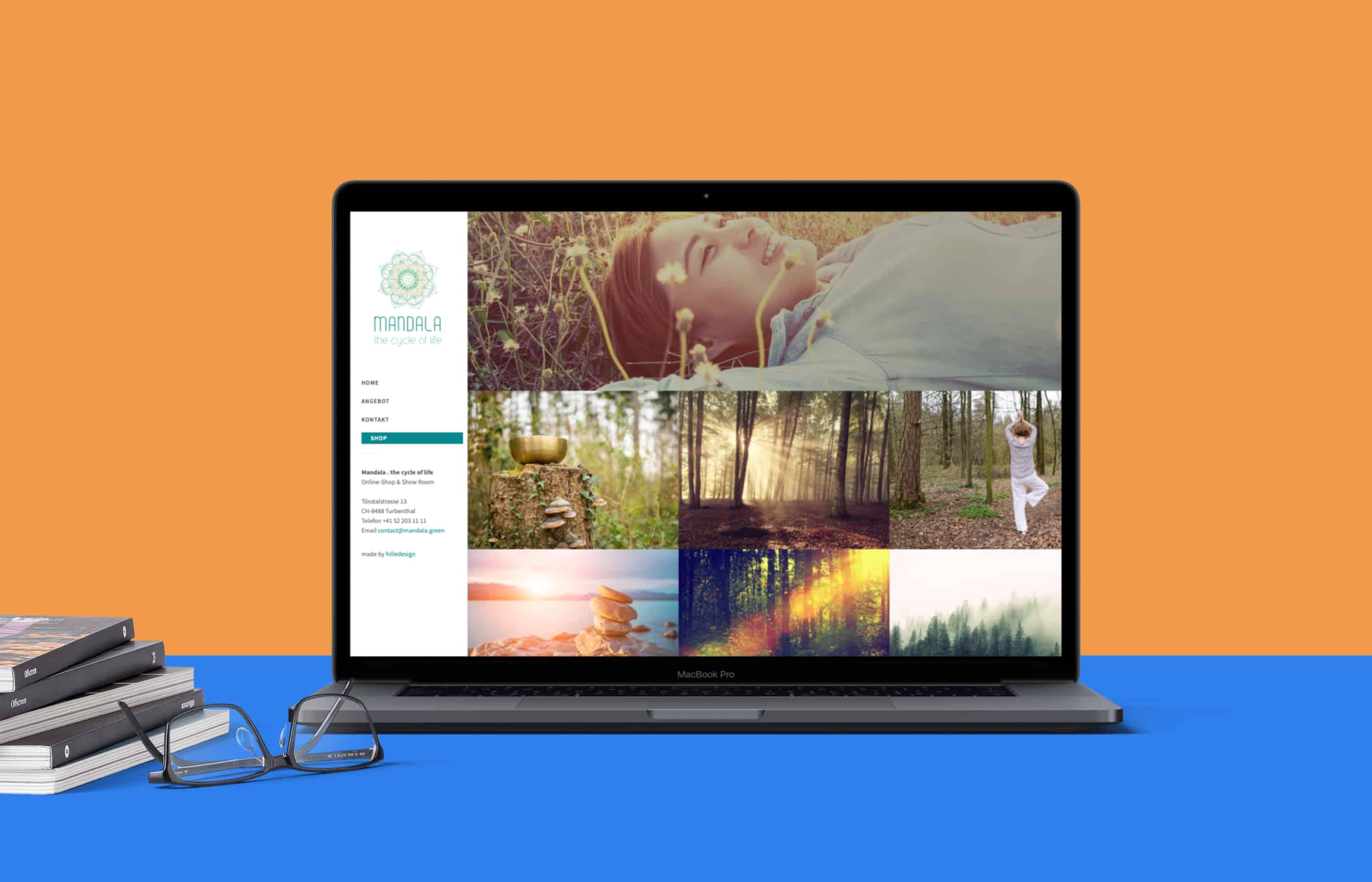 hilledesign Portfolio Webseite mandala.green
