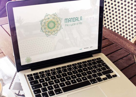 hilledesign Portfolio Mandala green Webseite