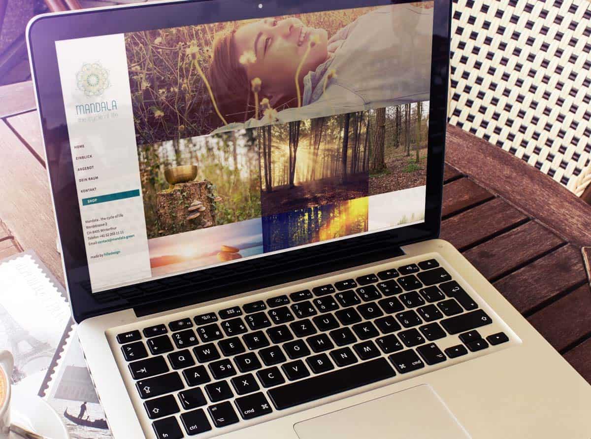 hilledesign Portfolio Mandala green Homepage