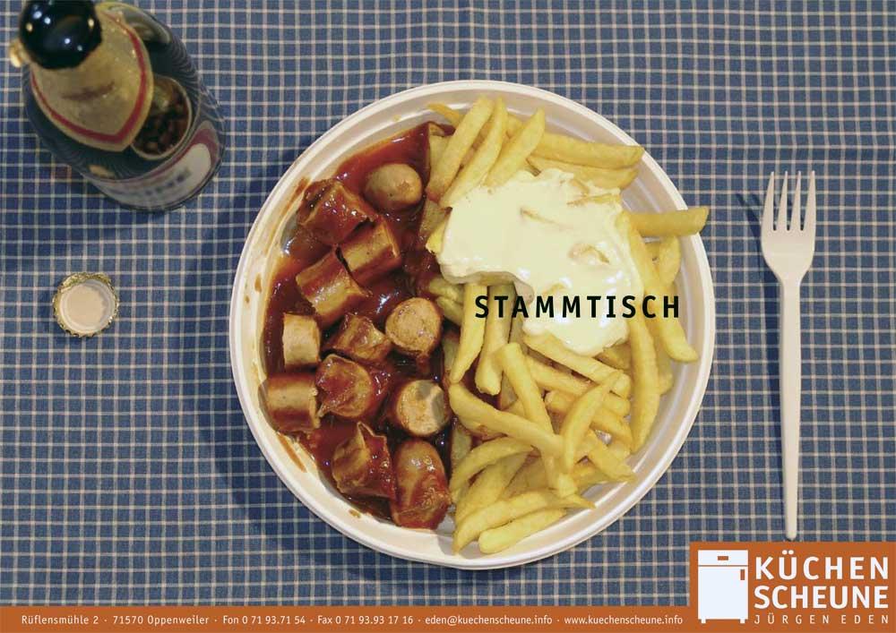 hilledesign Portfolio Küchenscheune Motiv Stammtisch