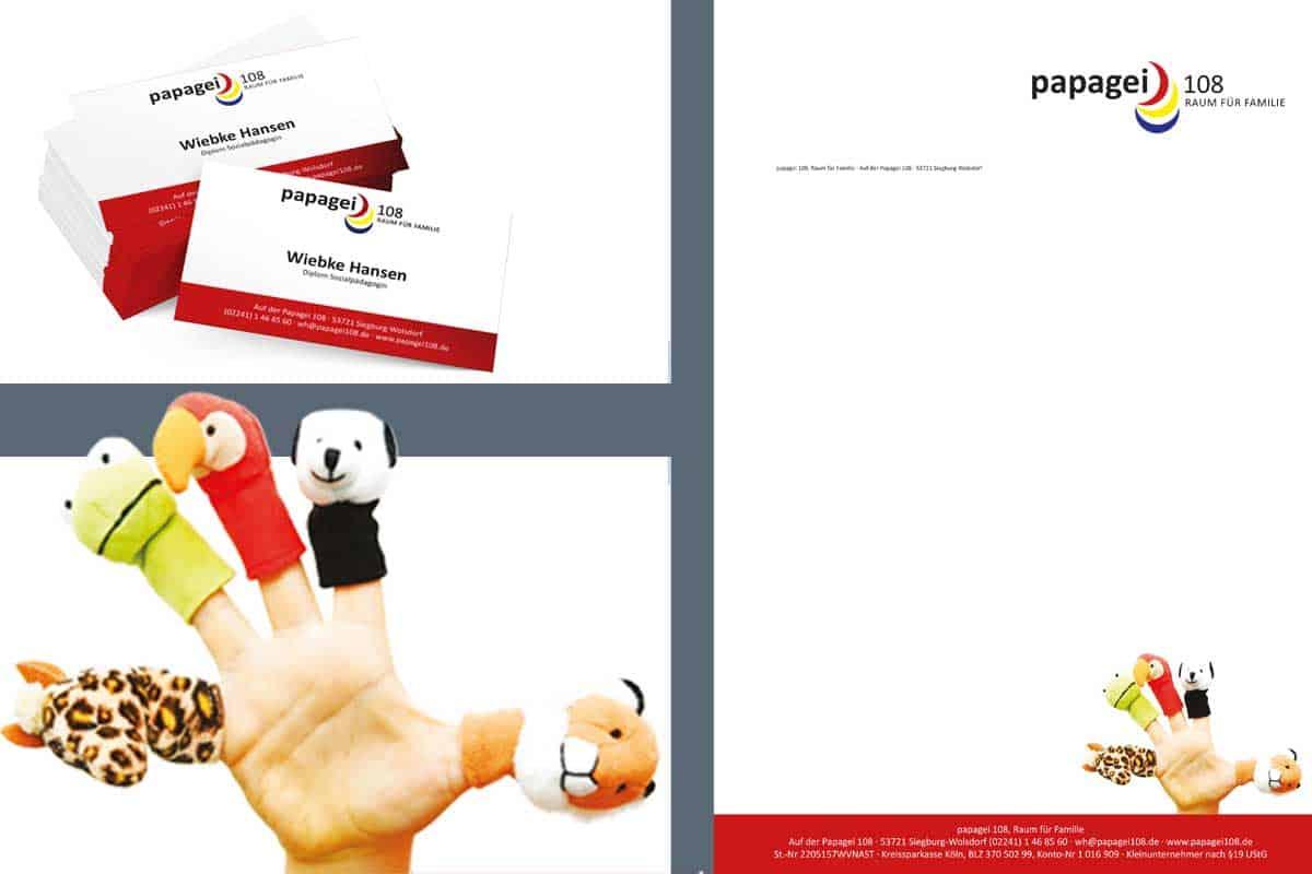 hilledesign Portfolio Papagei.108 Corporate Design