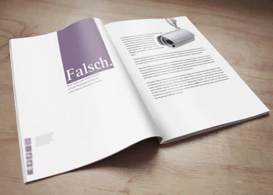 hilledesign Portfolio Gladen Alarmsysteme Broschüre