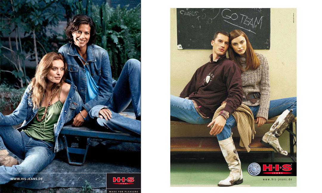 hilledesign Portfolio HIS Jeans Anzeigen