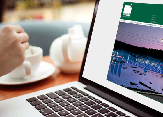 hilledesign Portfolio interlink Immobilien Webdesign