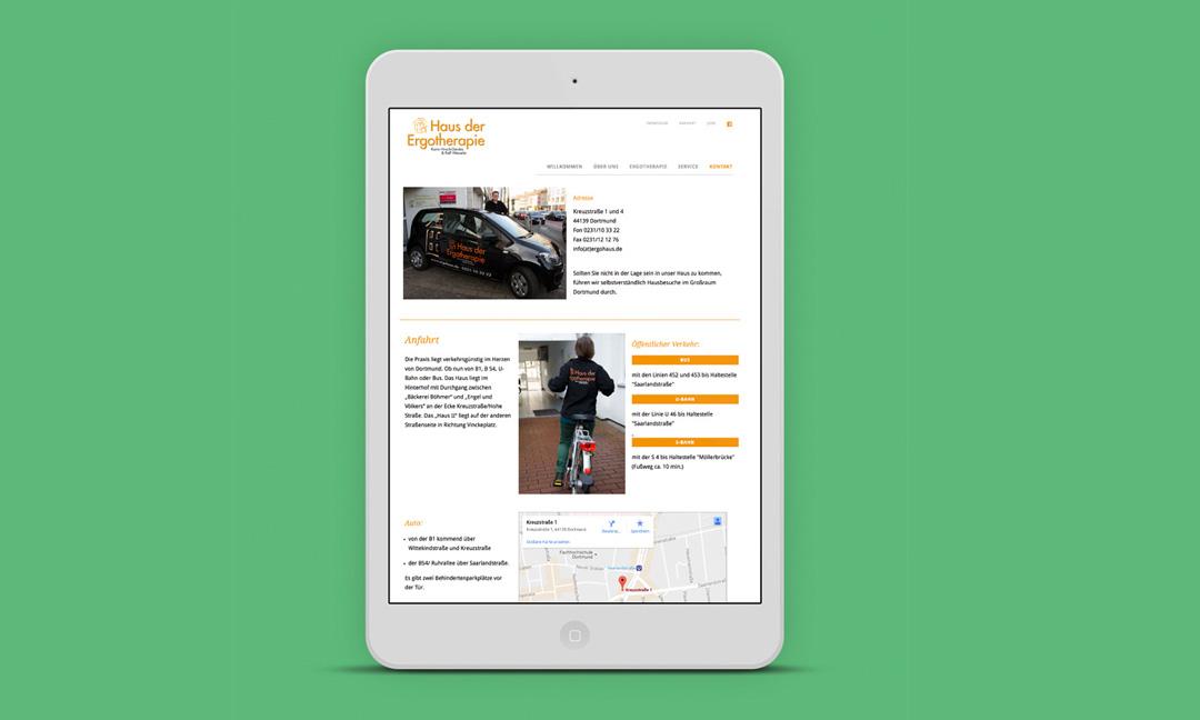 hilledesign Portfolio Ergohaus Web Design Homepage